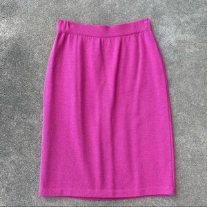 St. John Collection Pink Knit Pencil Skirt Four